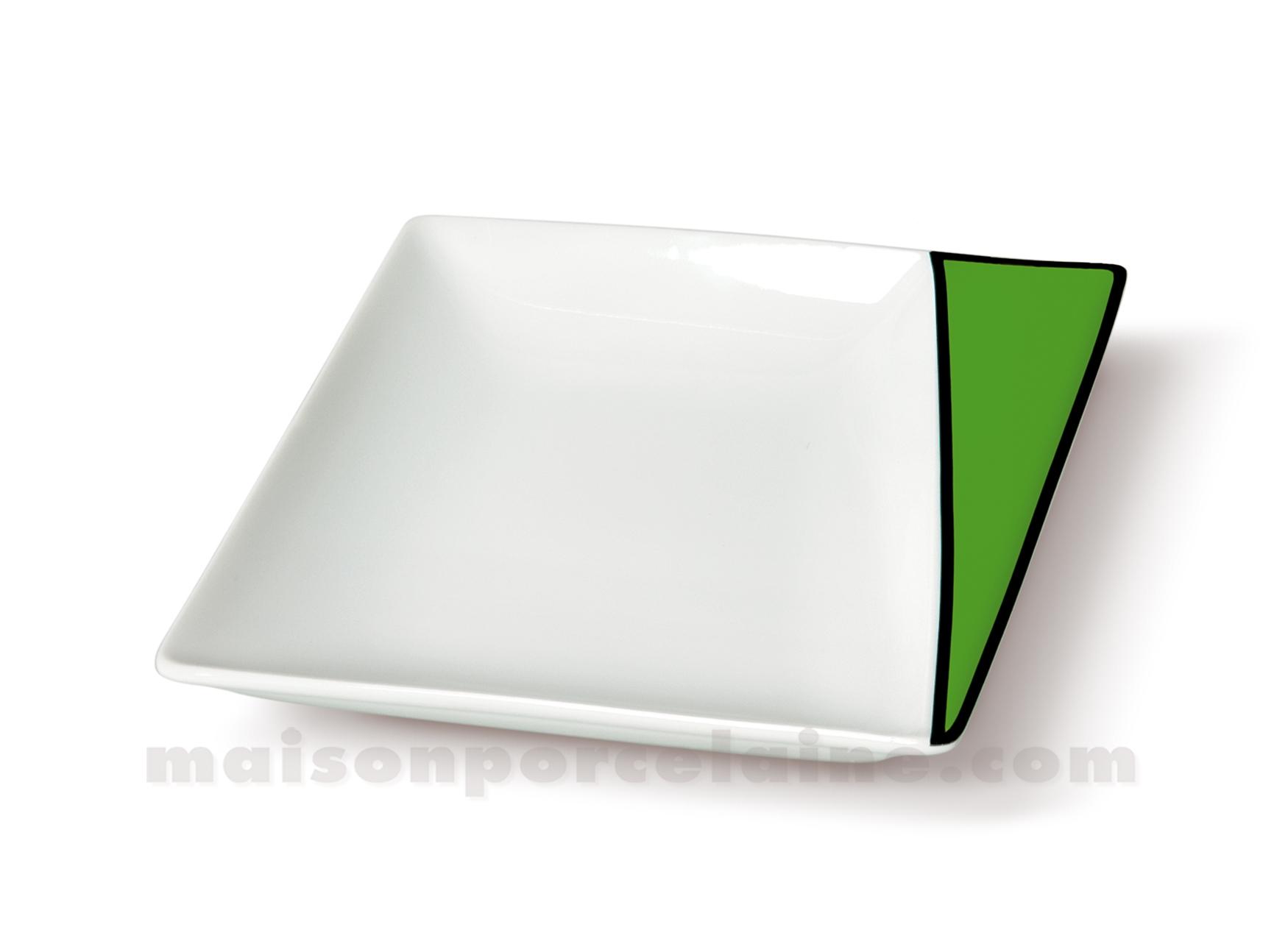 assiette carree creuse kheops 19 5x19 5x20x3 5 maison de la porcelaine. Black Bedroom Furniture Sets. Home Design Ideas