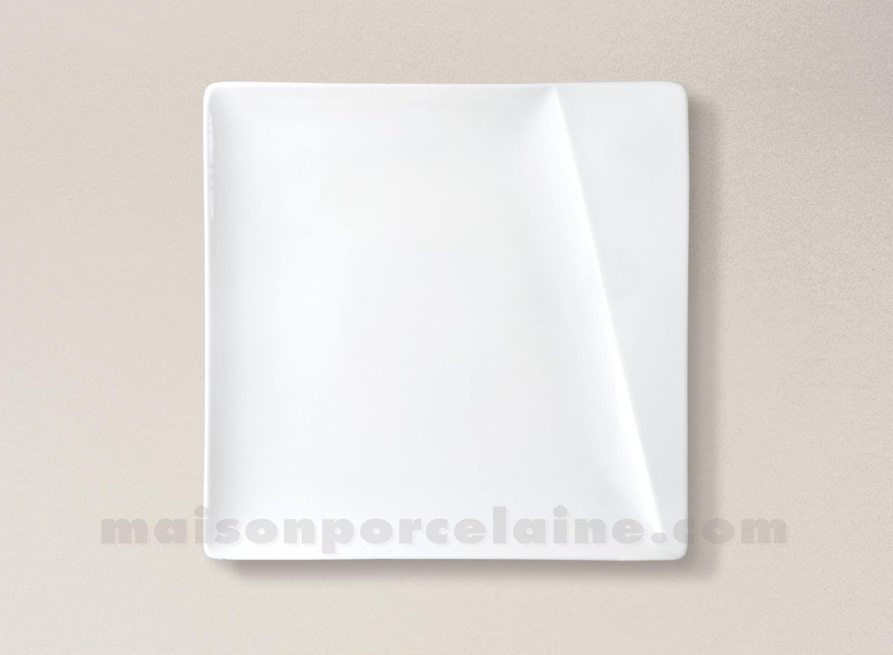 assiette carree dessert porcelaine blanche kheops 20x20. Black Bedroom Furniture Sets. Home Design Ideas