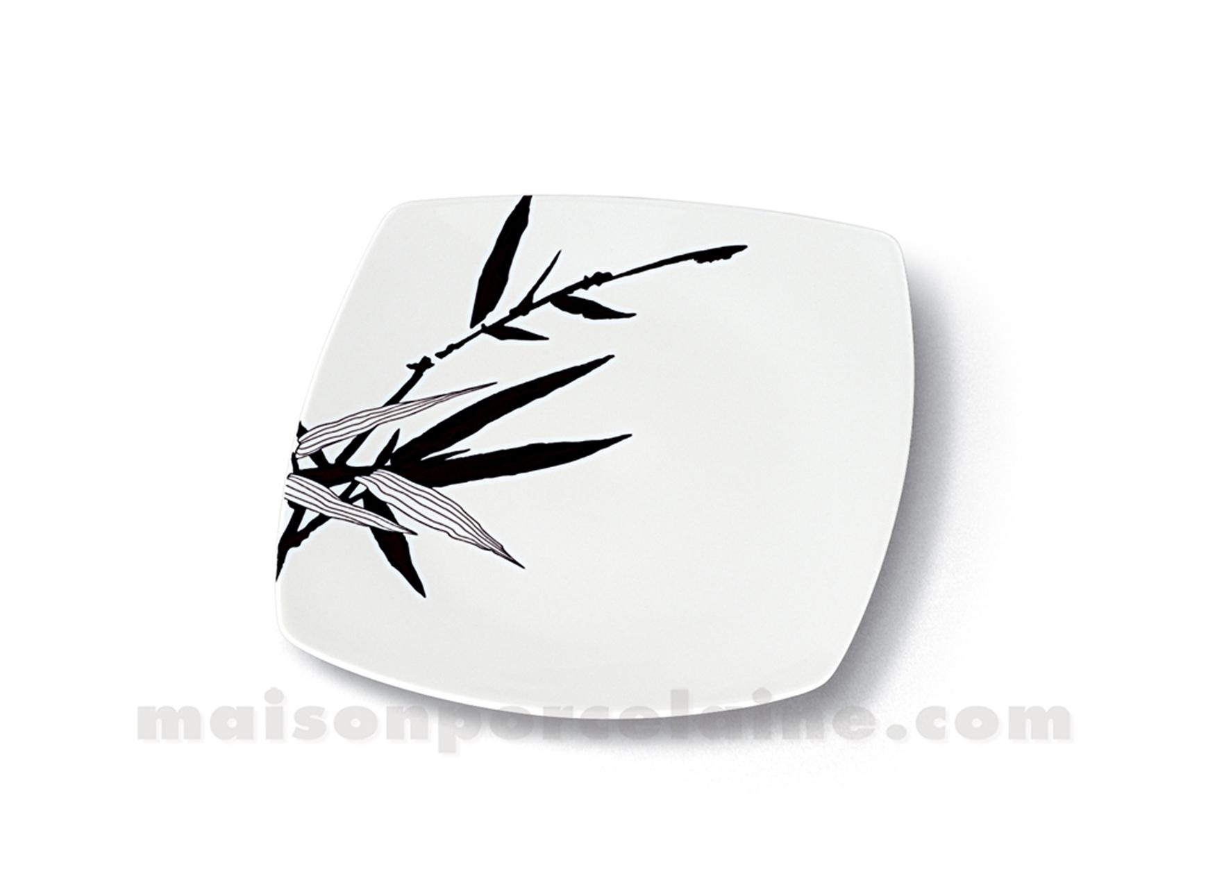 assiette carree dessert sahara 21x21 maison de la porcelaine. Black Bedroom Furniture Sets. Home Design Ideas
