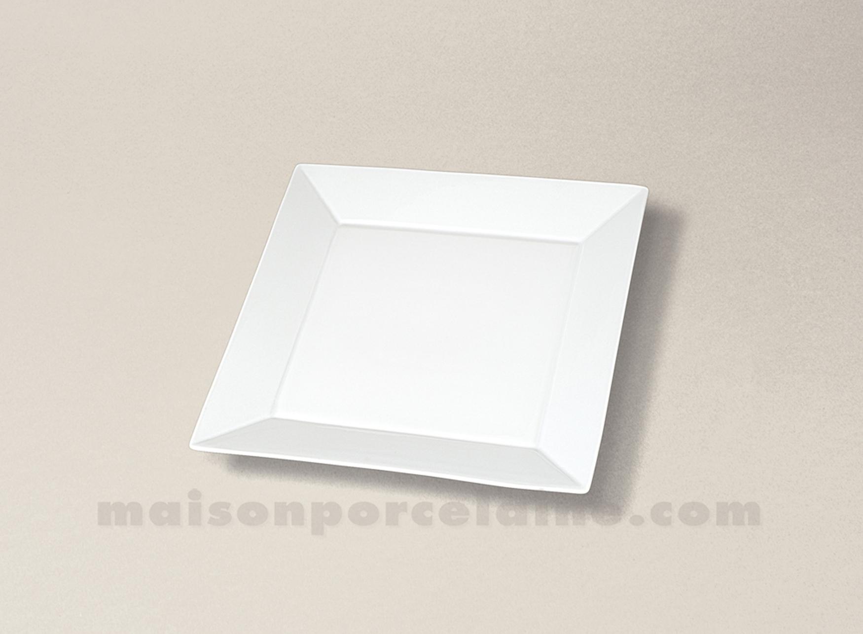 assiette carree plate porcelaine blanche kyoto 13x13. Black Bedroom Furniture Sets. Home Design Ideas