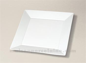 assiette carree plate porcelaine blanche kyoto 24x24 maison de la porcelaine. Black Bedroom Furniture Sets. Home Design Ideas
