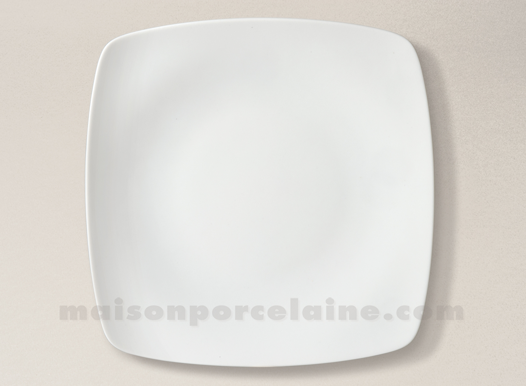 assiette carree plate porcelaine blanche sahara 25x25 maison de la porcelaine. Black Bedroom Furniture Sets. Home Design Ideas