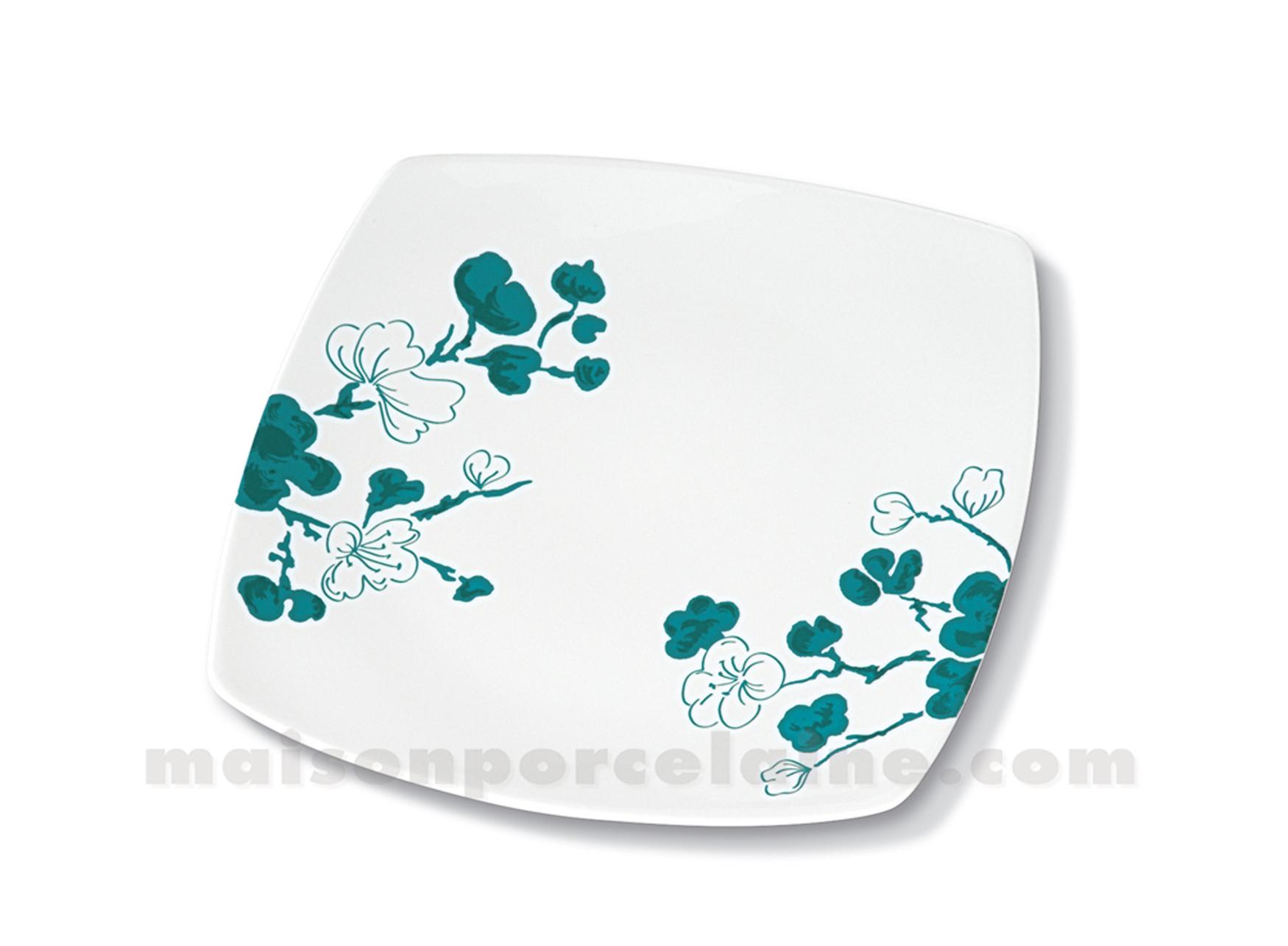 assiette carree plate sahara 25x25 maison de la porcelaine. Black Bedroom Furniture Sets. Home Design Ideas