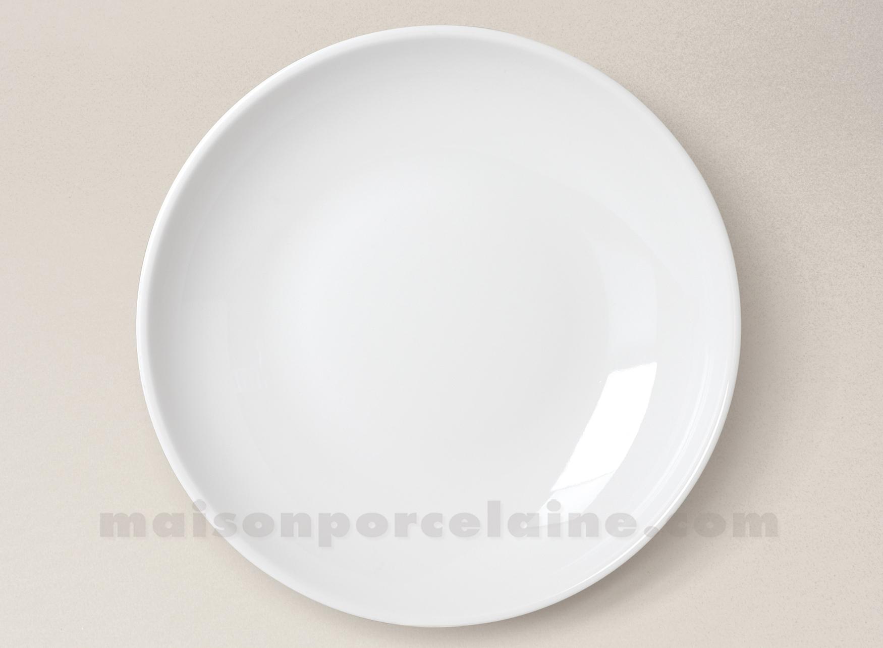 assiette couscous porcelaine blanche 26x5cm maison de la porcelaine. Black Bedroom Furniture Sets. Home Design Ideas