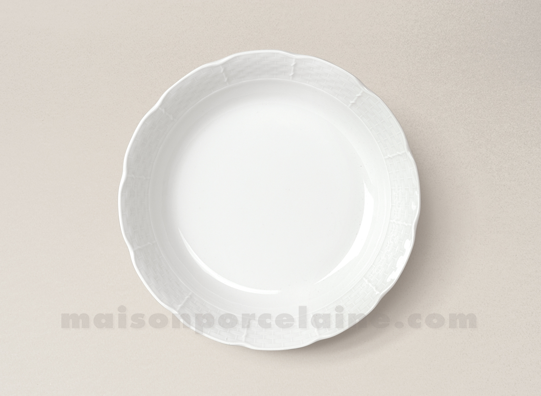 Assiette creuse calotte porcelaine blanche natacha d19 for Maison de la porcelaine