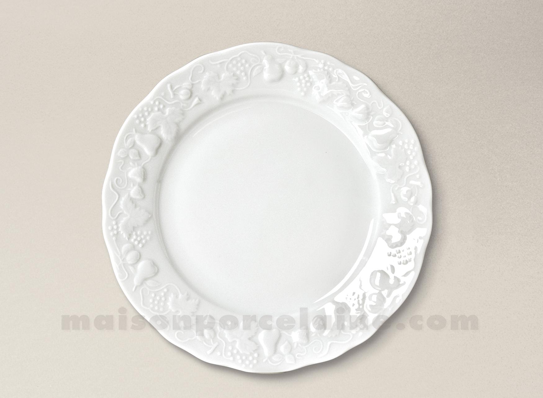 assiette dessert california porcelaine blanche limoges d22 maison de la porcelaine. Black Bedroom Furniture Sets. Home Design Ideas