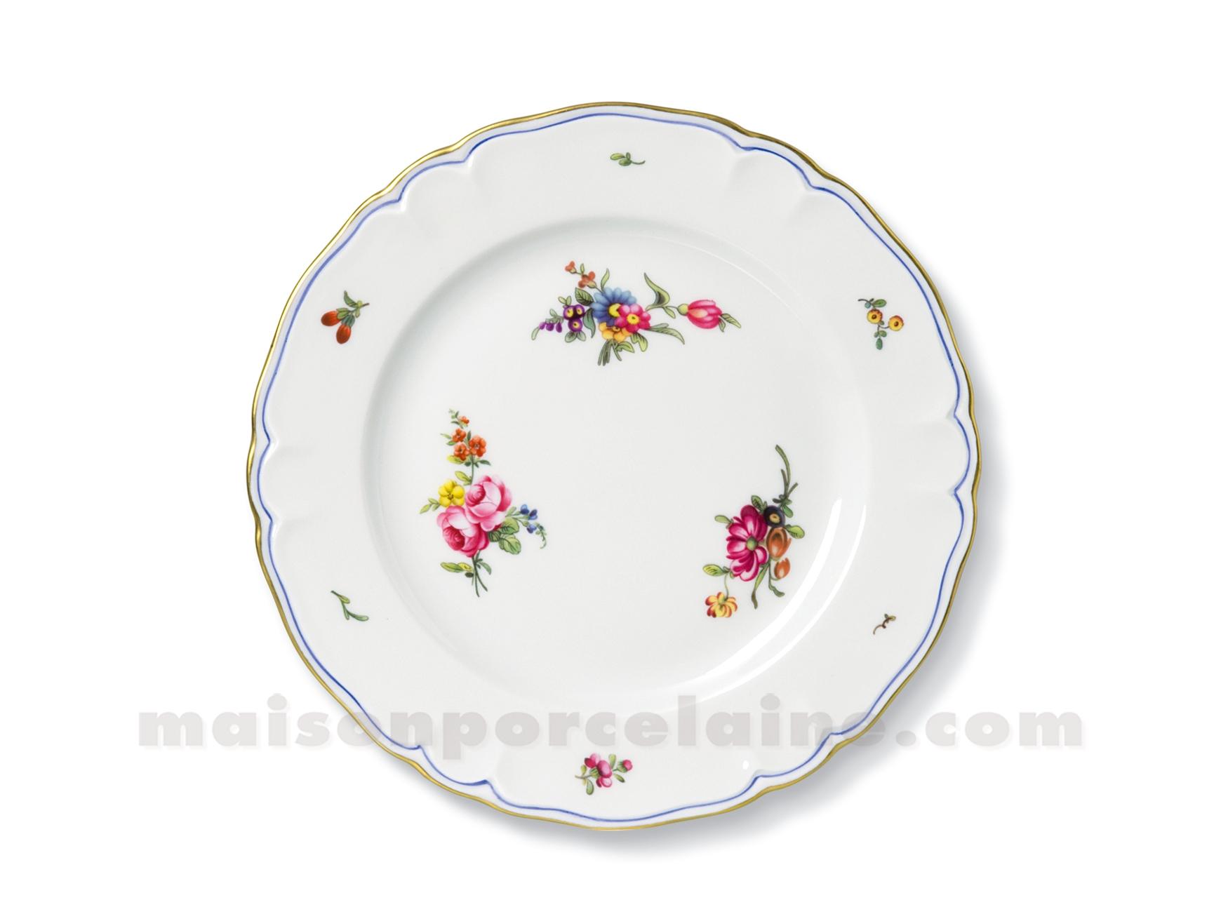 Assiette dessert limoges choiseul d22 maison de la - La maison de porcelaine ...