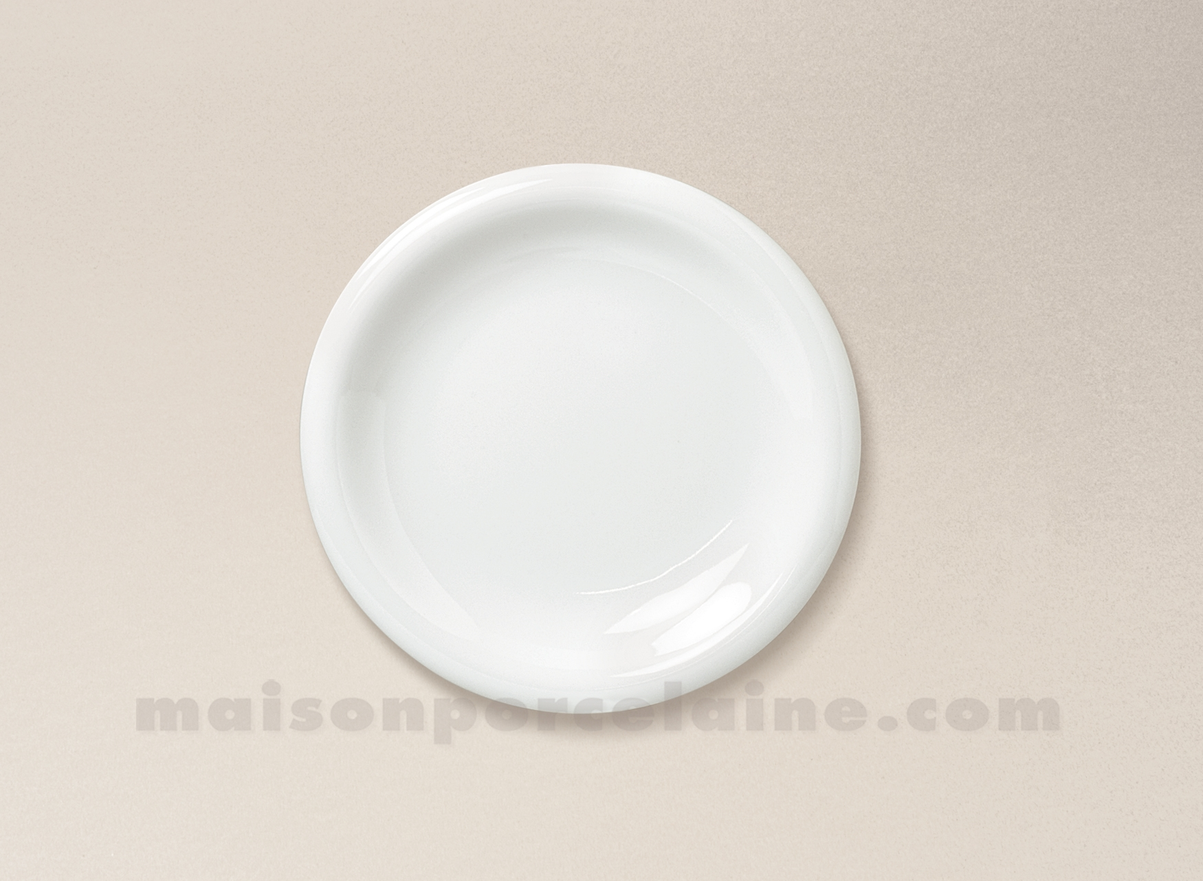 assiette dessert porcelaine blanche ronda d19 maison de. Black Bedroom Furniture Sets. Home Design Ideas