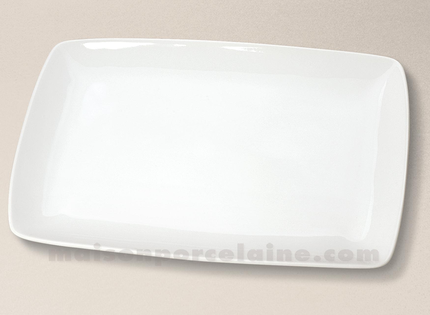 Assiette entrecote porcelaine blanche 32 5x22 5 maison for Maison de la porcelaine