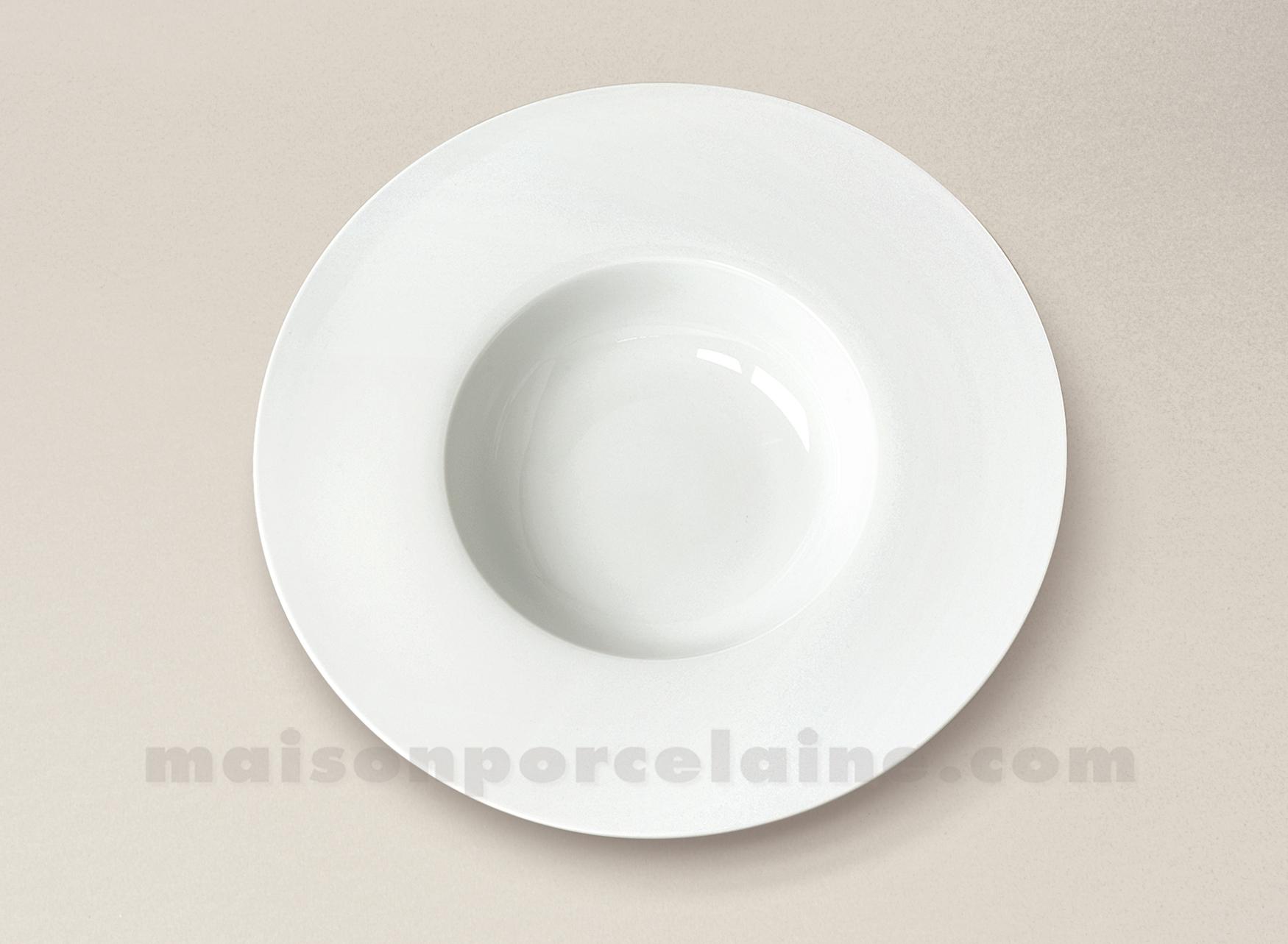 Assiette gourmet porcelaine blanche aile plate milan 20x5cm maison de la porcelaine - Assiette secret de gourmet ...