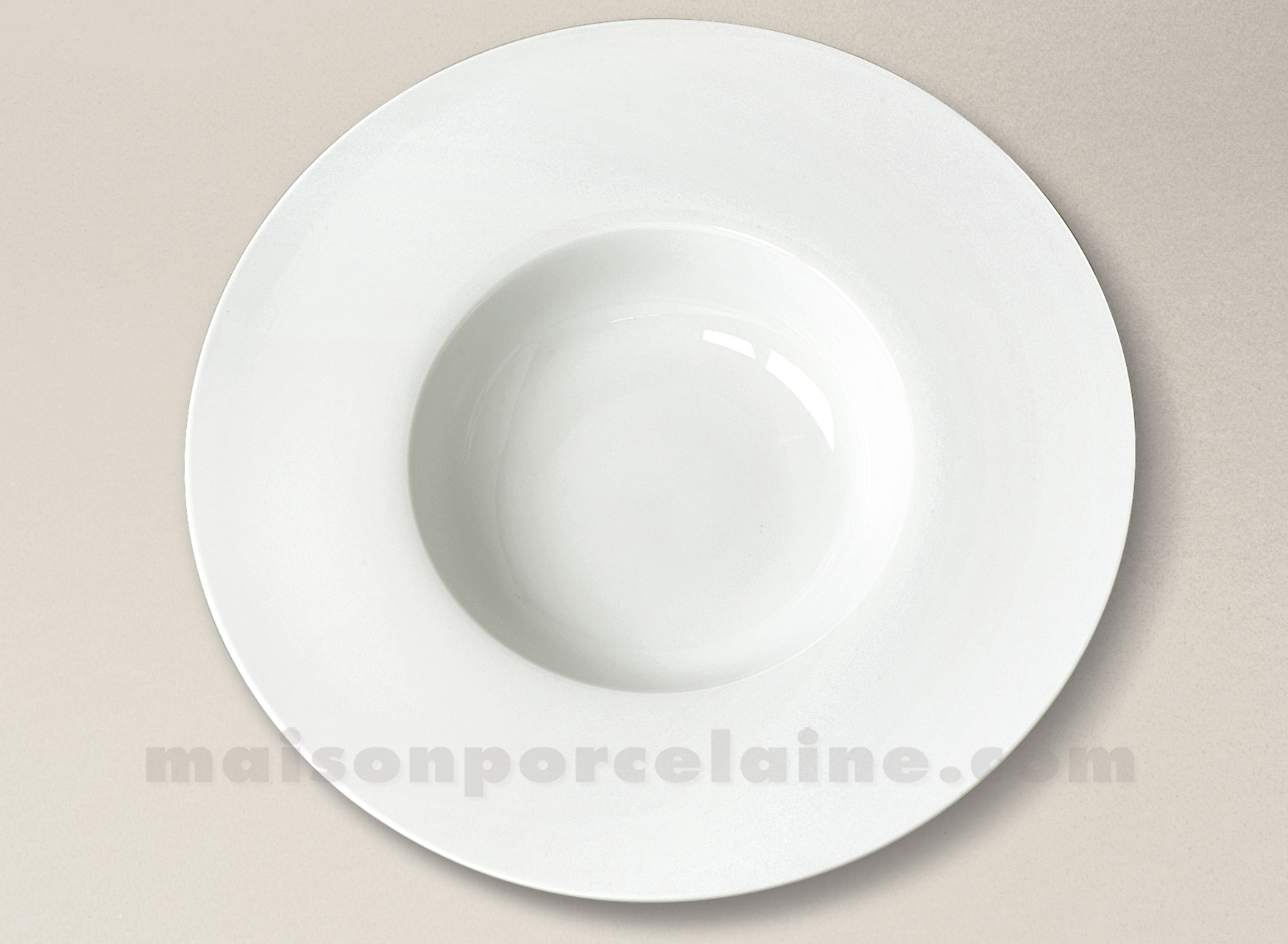 Assiette gourmet porcelaine blanche aile plate milan 28 5x6cm maison de la porcelaine - Assiette secret de gourmet ...