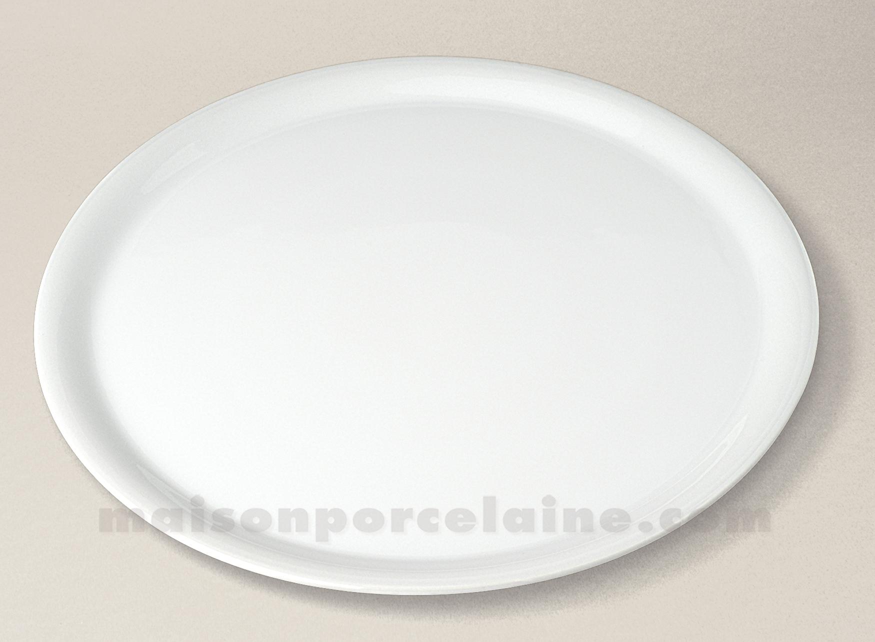 assiette pizza porcelaine blanche d31 5 maison de la porcelaine. Black Bedroom Furniture Sets. Home Design Ideas