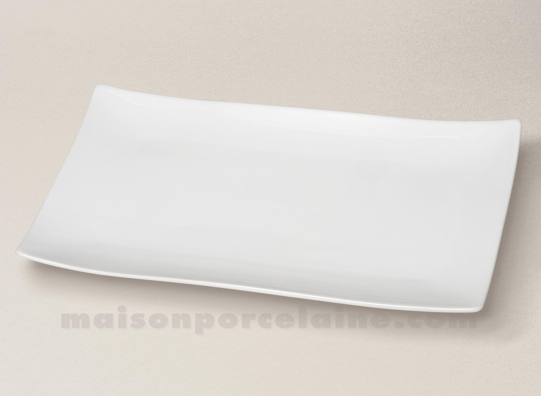 assiette plat rectangulaire porcelaine blanche. Black Bedroom Furniture Sets. Home Design Ideas