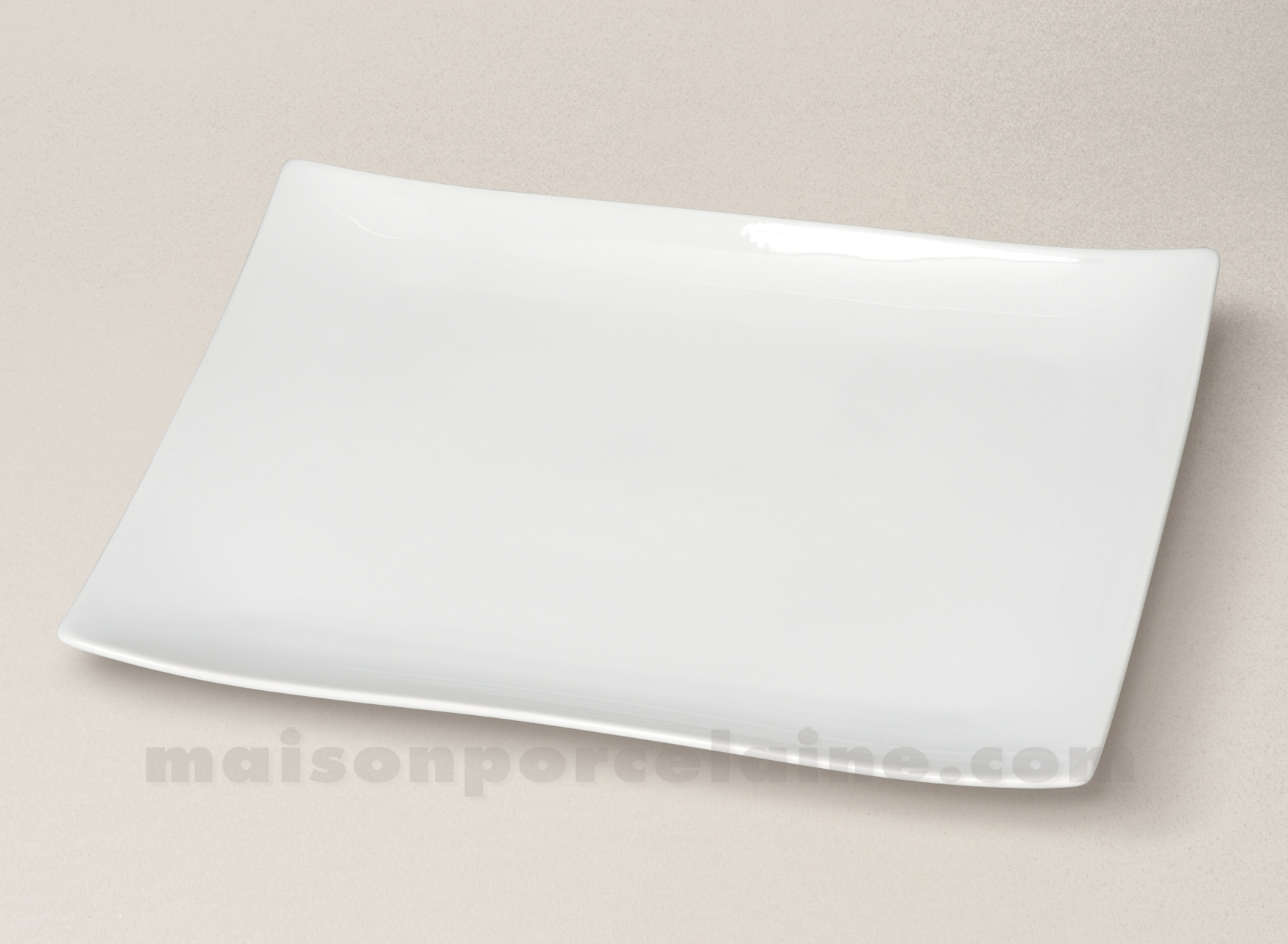 assiette plat rectangulaire porcelaine blanche seoul 32 5x22 5cm55 maison de la porcelaine. Black Bedroom Furniture Sets. Home Design Ideas