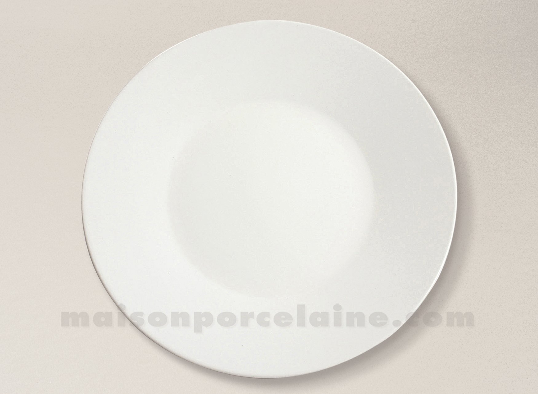 Assiette Plate Gres Professionnel 30x3cm Copenhague Ivoire