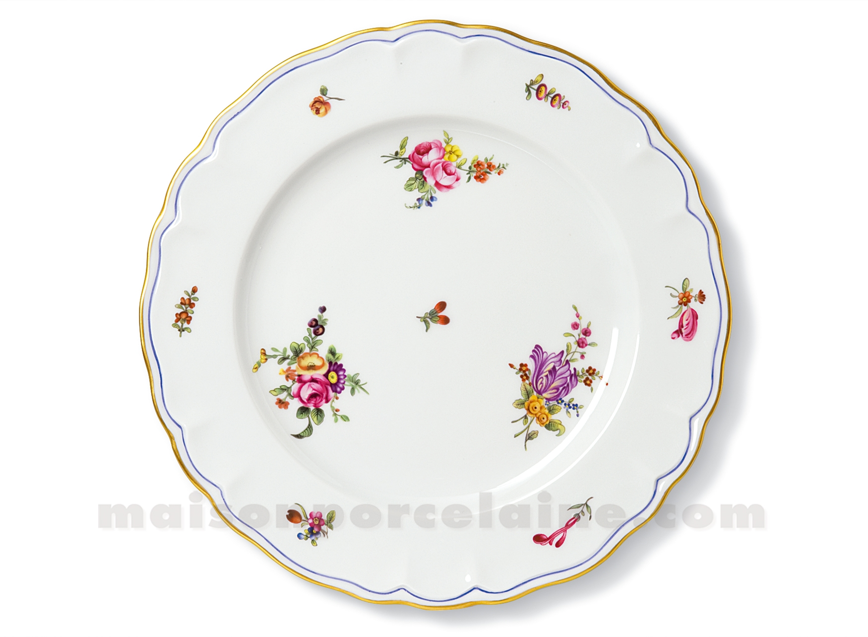 assiette plate limoges choiseul d27 maison de la porcelaine. Black Bedroom Furniture Sets. Home Design Ideas