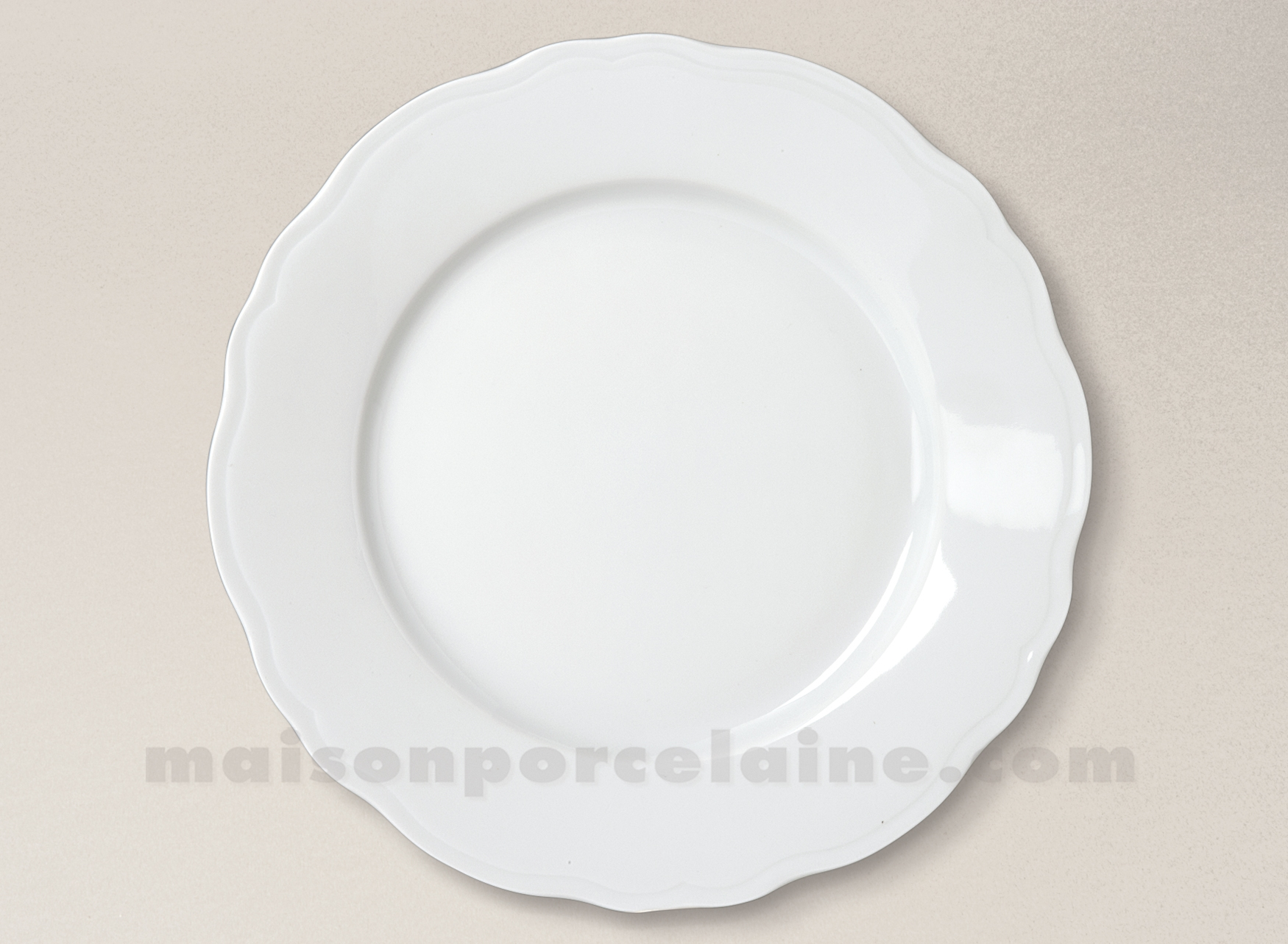 assiette plate limoges porcelaine blanche colbert d265 maison de la porcelaine. Black Bedroom Furniture Sets. Home Design Ideas