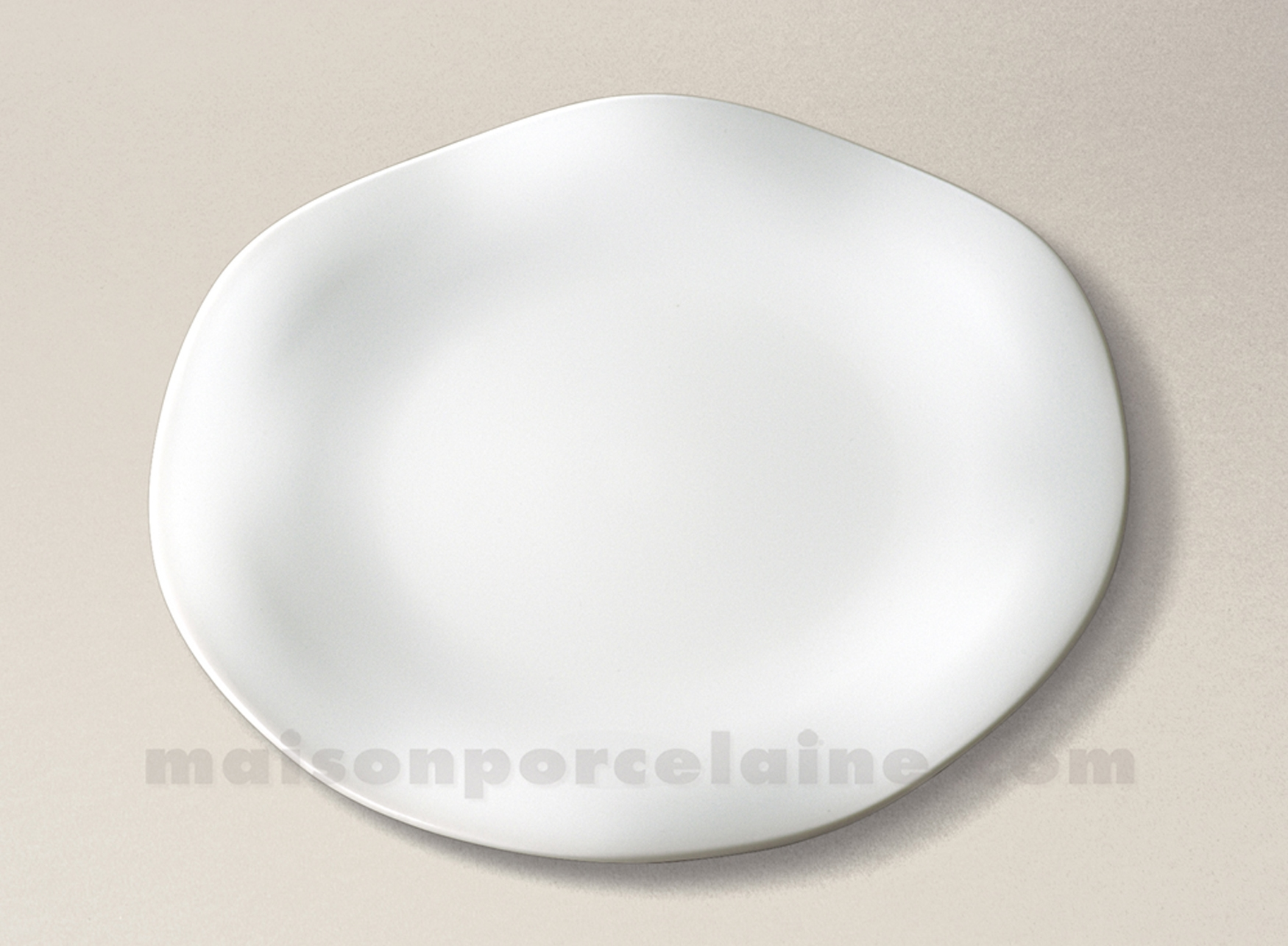 assiette plate limoges porcelaine blanche gala d27 5 maison de la porcelaine. Black Bedroom Furniture Sets. Home Design Ideas