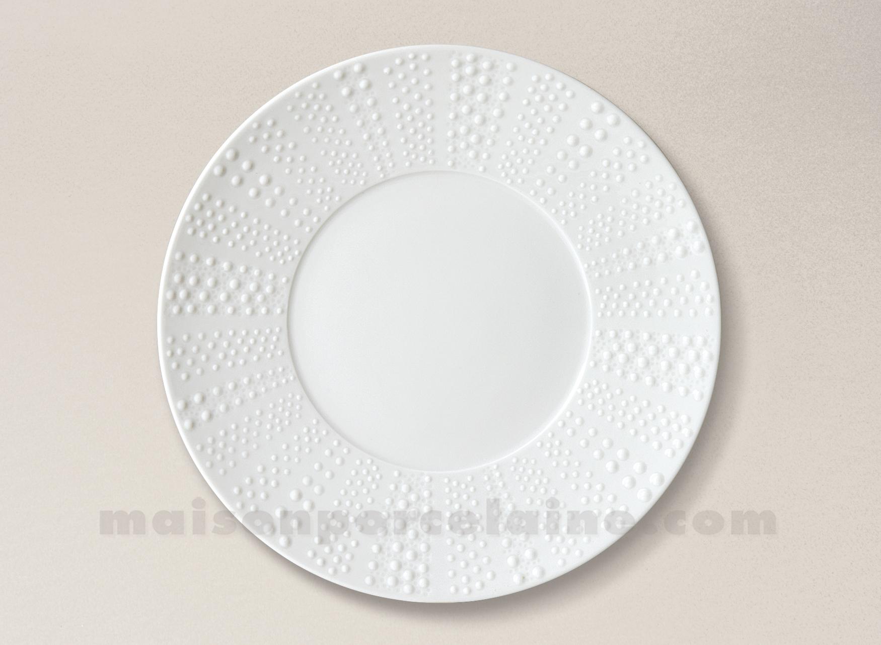 assiette plate pate extra blanche limoges sania d27 5 maison de la porcelaine. Black Bedroom Furniture Sets. Home Design Ideas