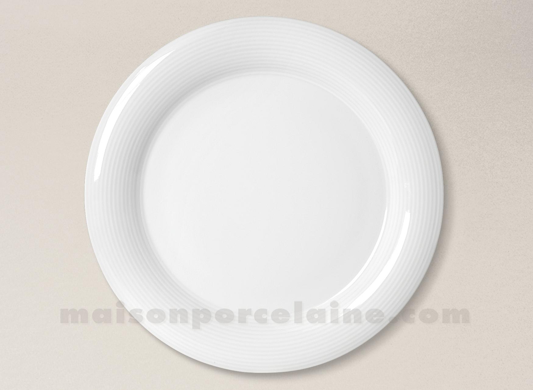 assiette plate porcelaine blanche abba d26 maison de la. Black Bedroom Furniture Sets. Home Design Ideas