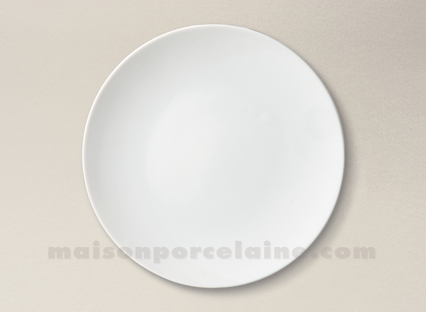 assiette plate porcelaine blanche artois d25 maison de la porcelaine. Black Bedroom Furniture Sets. Home Design Ideas