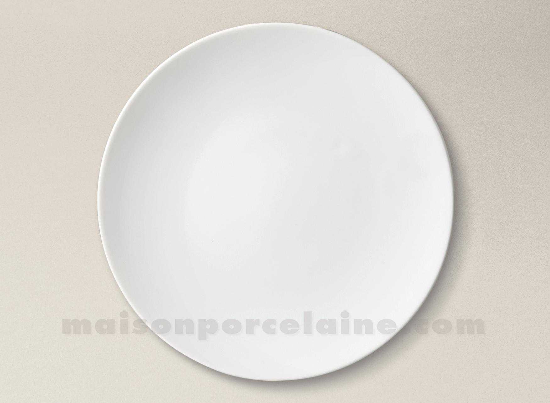 assiette plate porcelaine blanche artois d27 maison de la porcelaine. Black Bedroom Furniture Sets. Home Design Ideas