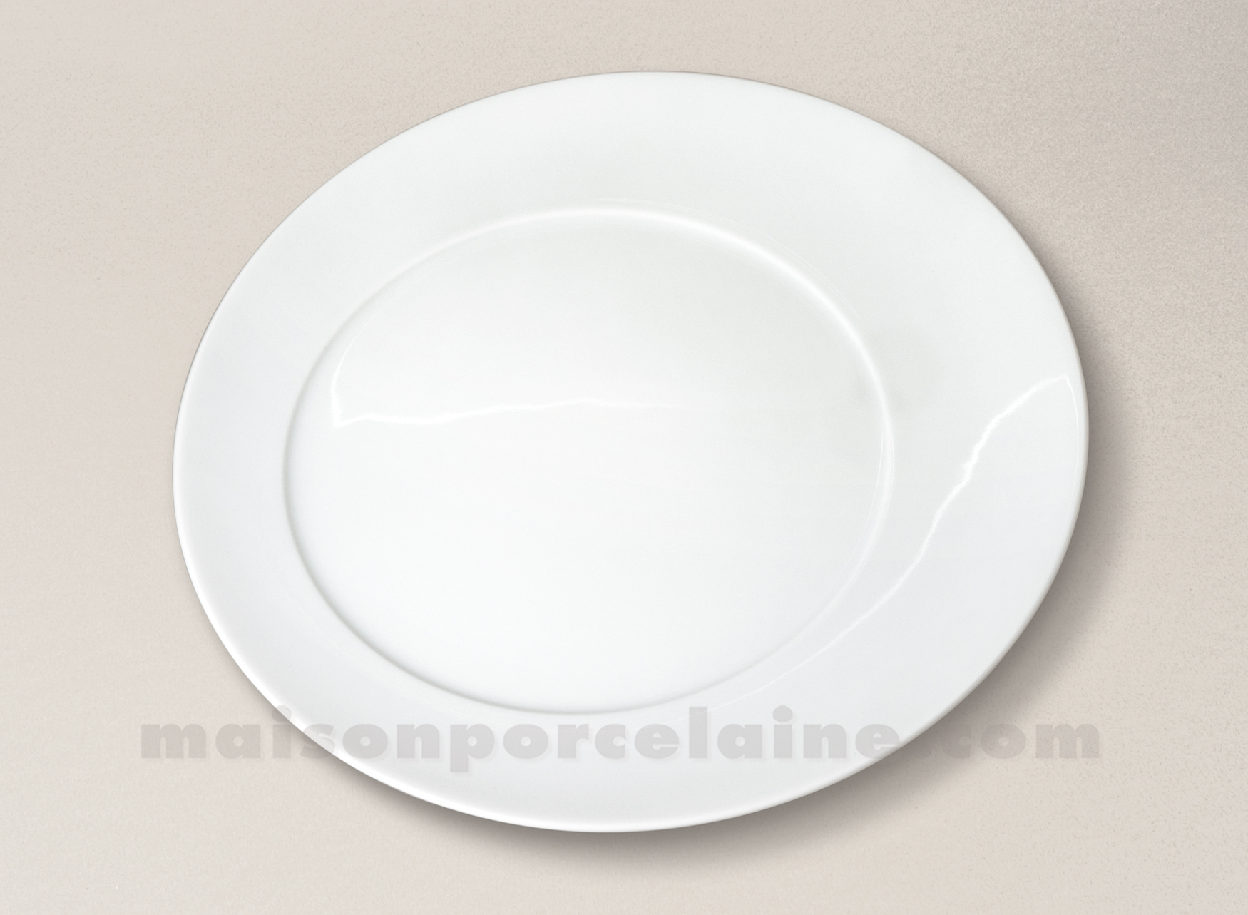 assiette plate porcelaine blanche kosmos d28 maison de la porcelaine. Black Bedroom Furniture Sets. Home Design Ideas