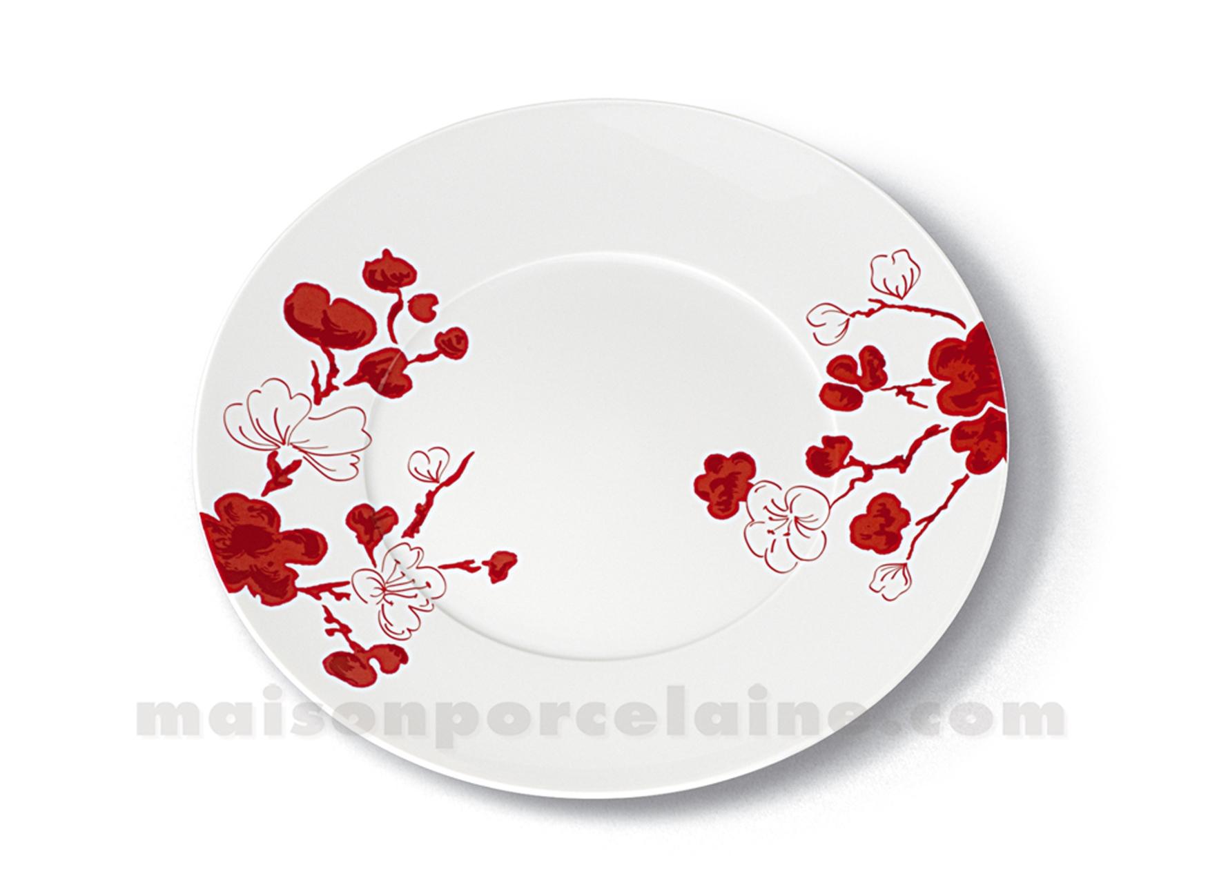 assiettes plates porcelaine assiette plate en porcelaine multicolore d 27 cm idylle assiette. Black Bedroom Furniture Sets. Home Design Ideas