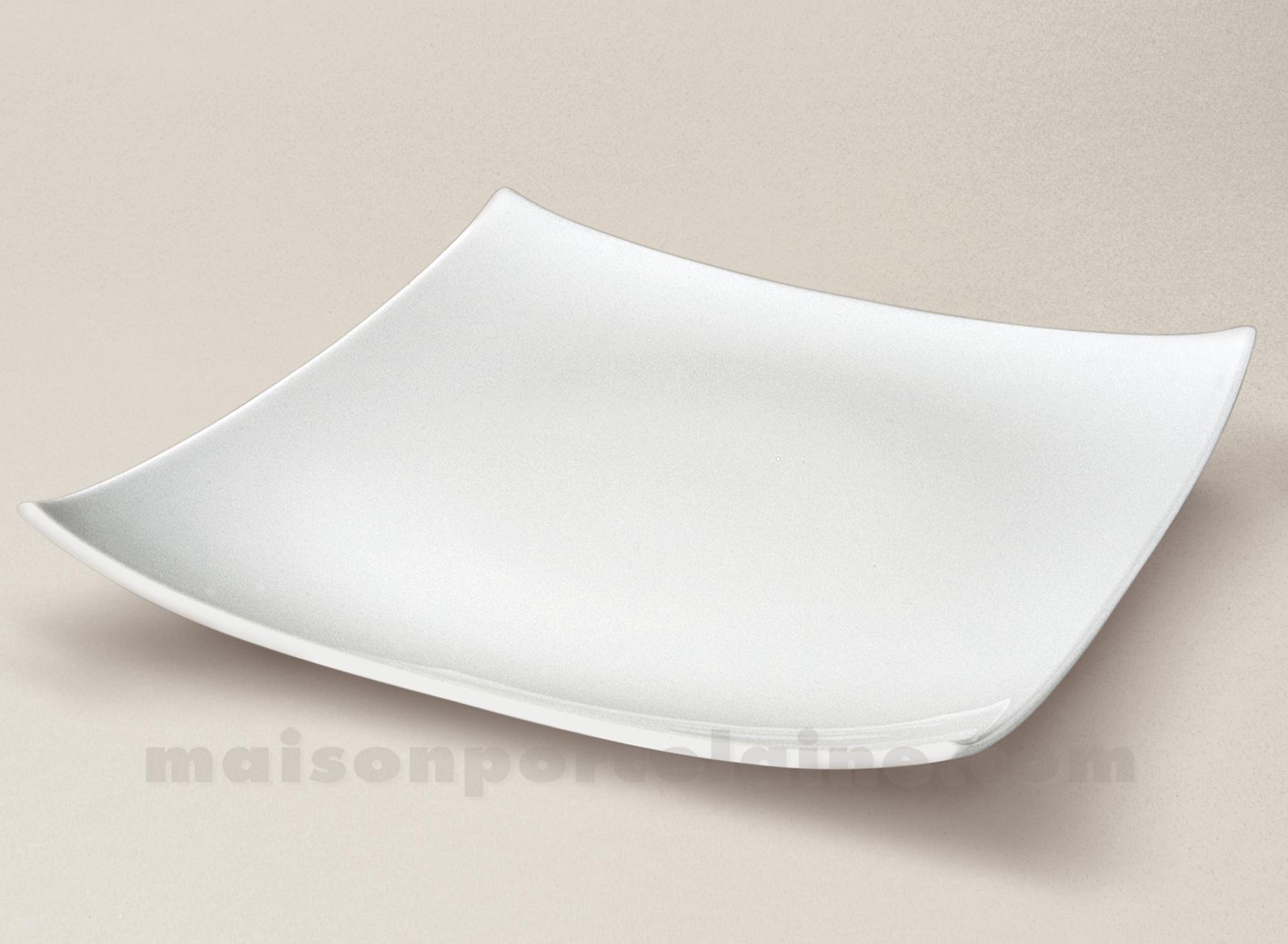 assiette plate limoges porcelaine blanche oxygene l27. Black Bedroom Furniture Sets. Home Design Ideas