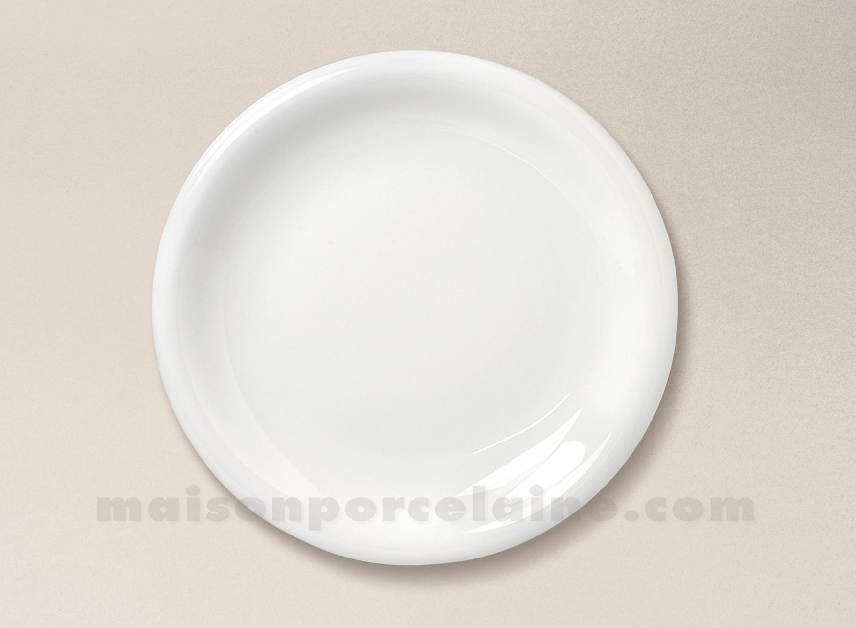 assiette plate porcelaine blanche ronda d26 maison de la. Black Bedroom Furniture Sets. Home Design Ideas