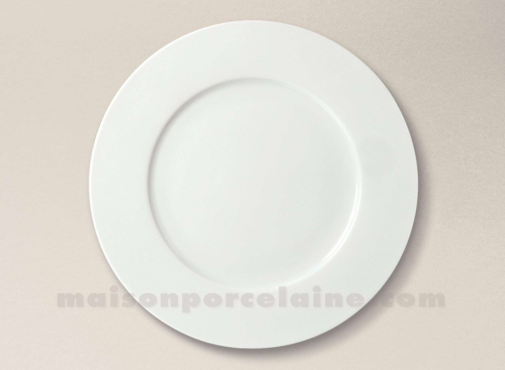assiette plate porcelaine blanche sologne d27 maison de la porcelaine. Black Bedroom Furniture Sets. Home Design Ideas