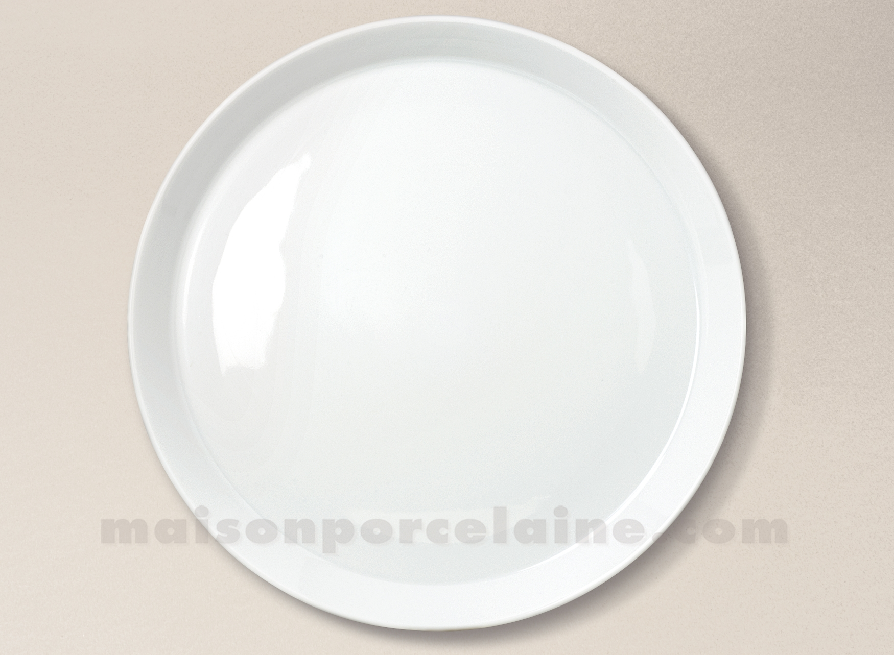 assiette plate porcelaine blanche trendy d26 maison de la porcelaine. Black Bedroom Furniture Sets. Home Design Ideas