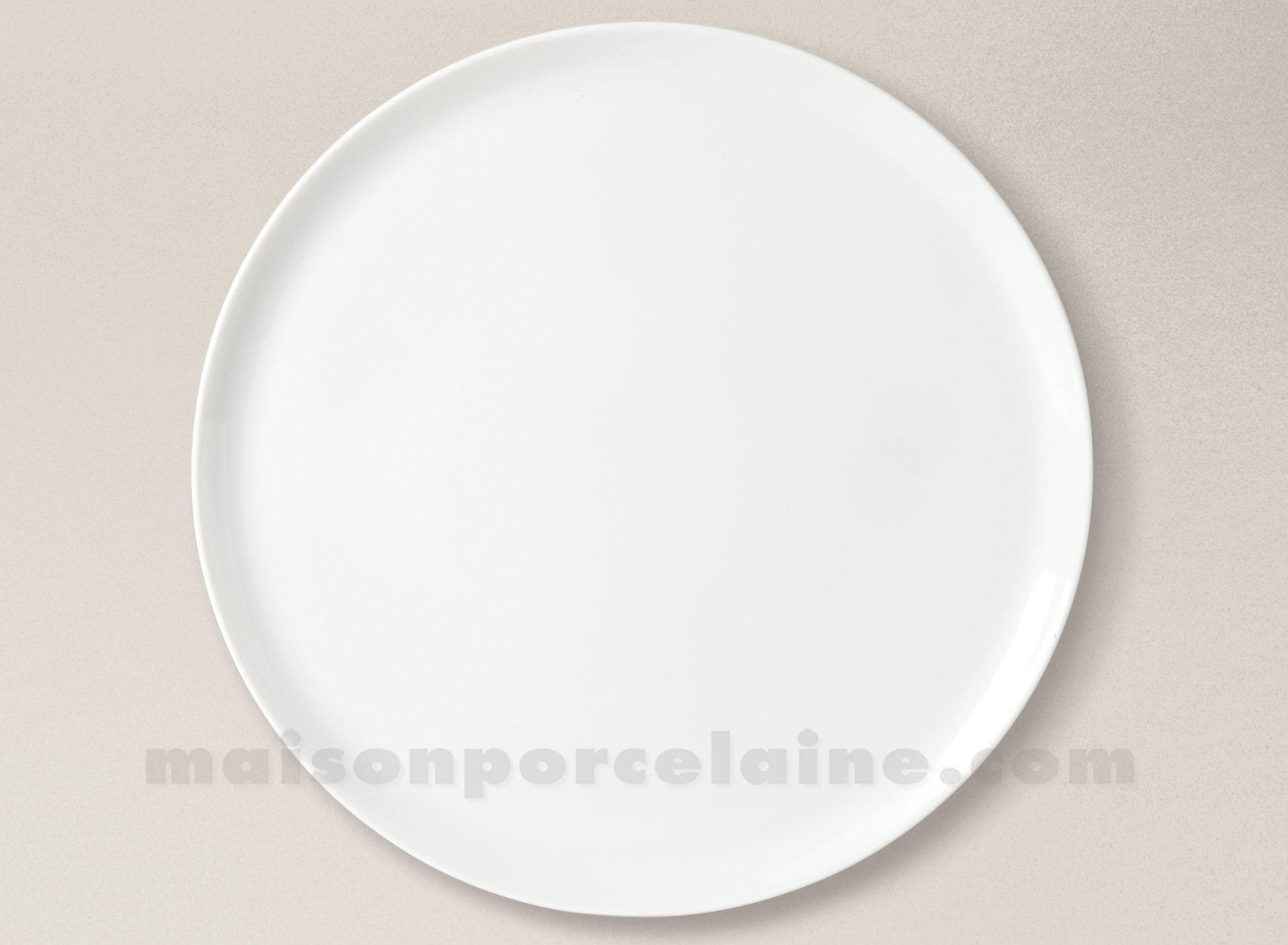 assiette plate porcelaine blanche yaka 27 5cm maison de la porcelaine. Black Bedroom Furniture Sets. Home Design Ideas
