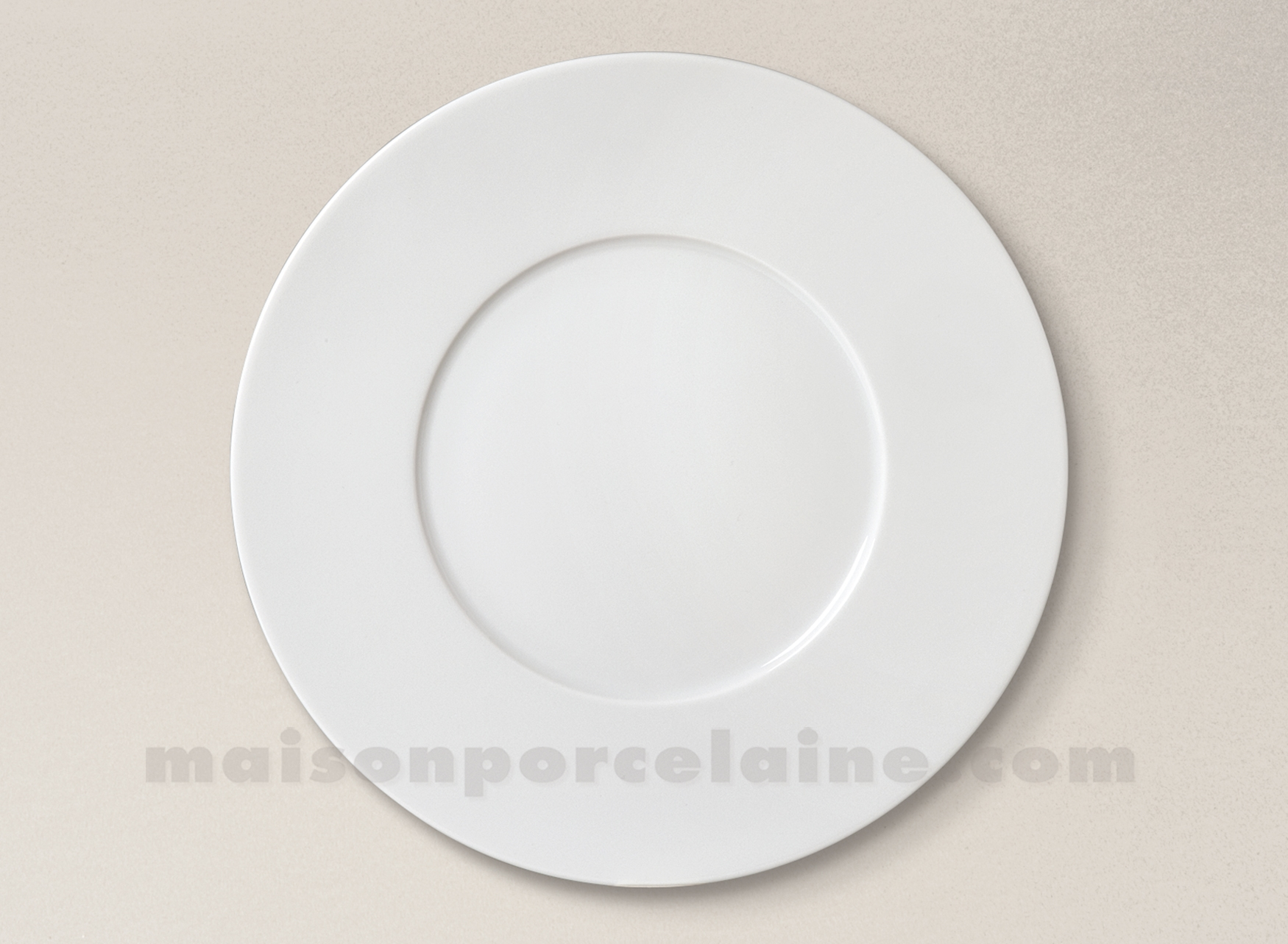 assiette plate porcelaine blanche zen d29 maison de la. Black Bedroom Furniture Sets. Home Design Ideas