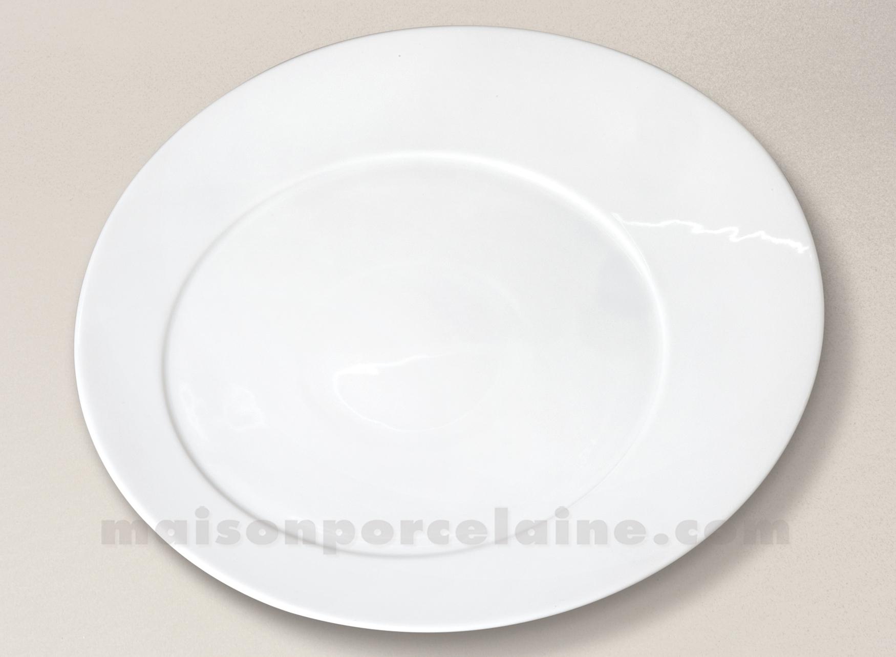 assiette presentation porcelaine blanche kosmos d32. Black Bedroom Furniture Sets. Home Design Ideas