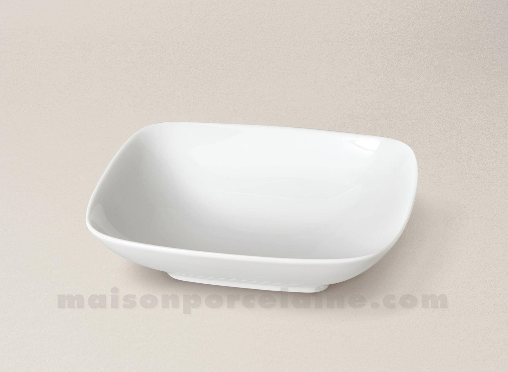 assiette rectangulaire creuse porcelaine blanche atlas 18x16 maison de la porcelaine. Black Bedroom Furniture Sets. Home Design Ideas