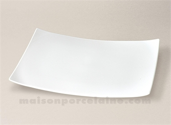 assiette rectangulaire limoges porcelaine blanche oxygene. Black Bedroom Furniture Sets. Home Design Ideas