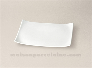 assiette rectangulaire limoges porcelaine blanche oxygene pm 24x16 maison de la porcelaine. Black Bedroom Furniture Sets. Home Design Ideas
