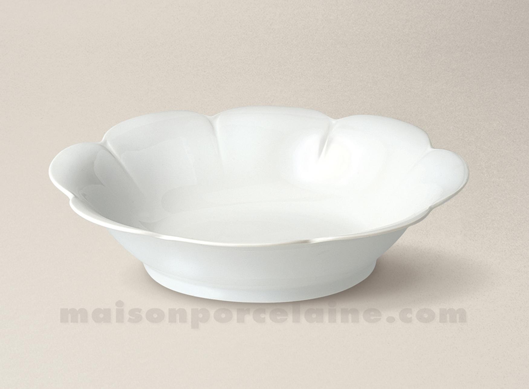 Baker legumier limoges porcelaine blanche nymphea 2424 5x19 5 maison de la - La porcelaine blanche ...
