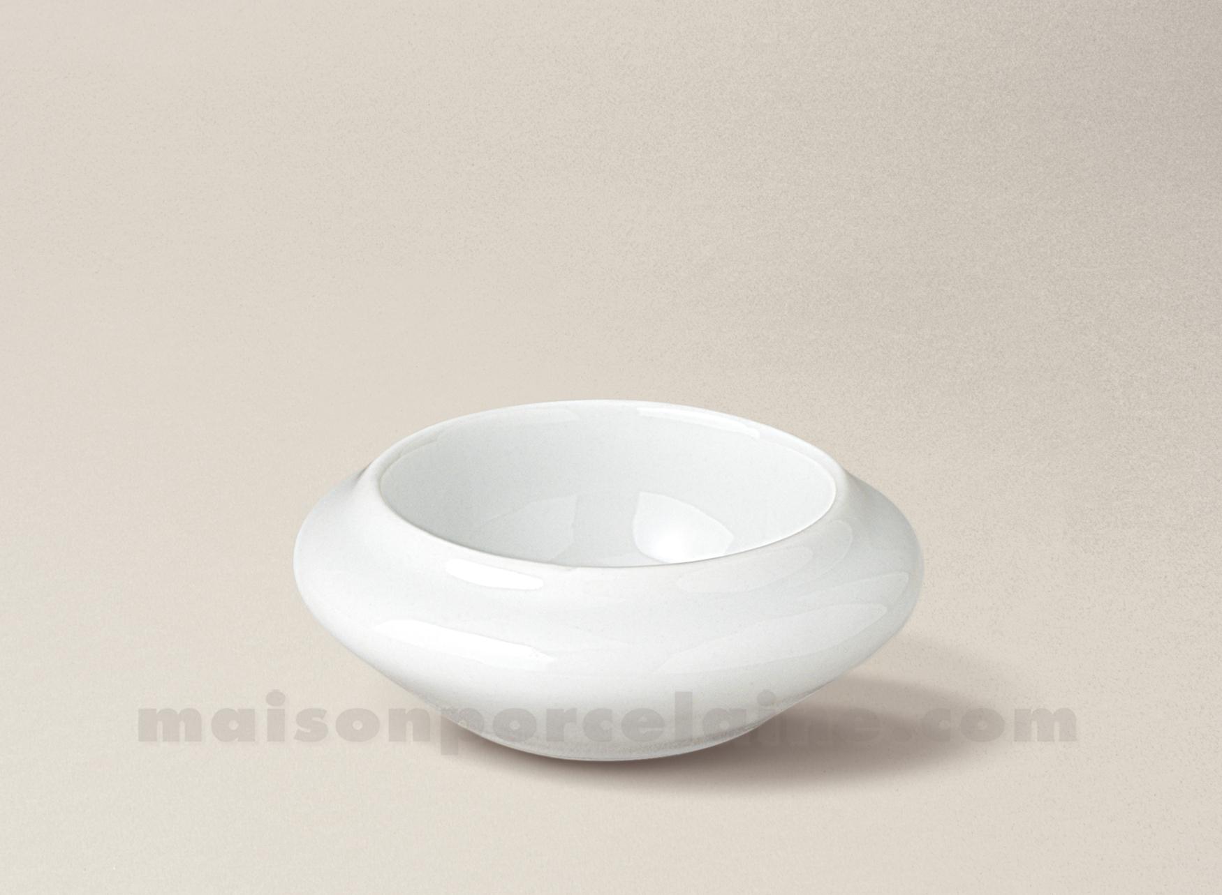 beurrier individuel porcelaine blanche rond 8x3 maison de la porcelaine. Black Bedroom Furniture Sets. Home Design Ideas