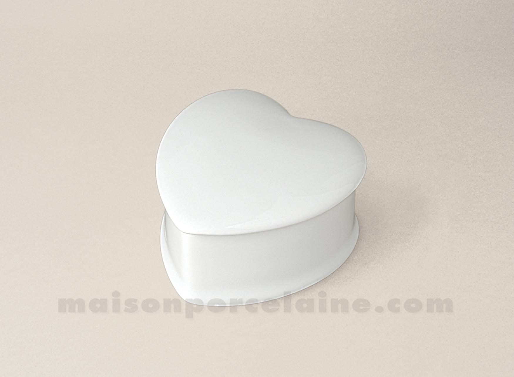 Boite pilules porcelaine blanche c ur elise 7x7x4 maison - La maison de porcelaine ...