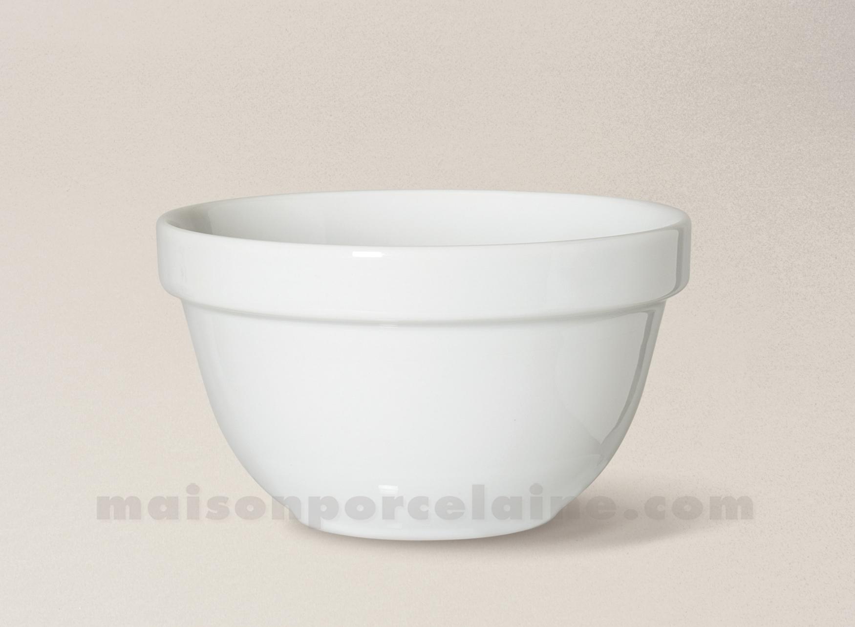 Bol empilable porcelaine blanche 11 5x7 maison de la for Maison de la porcelaine