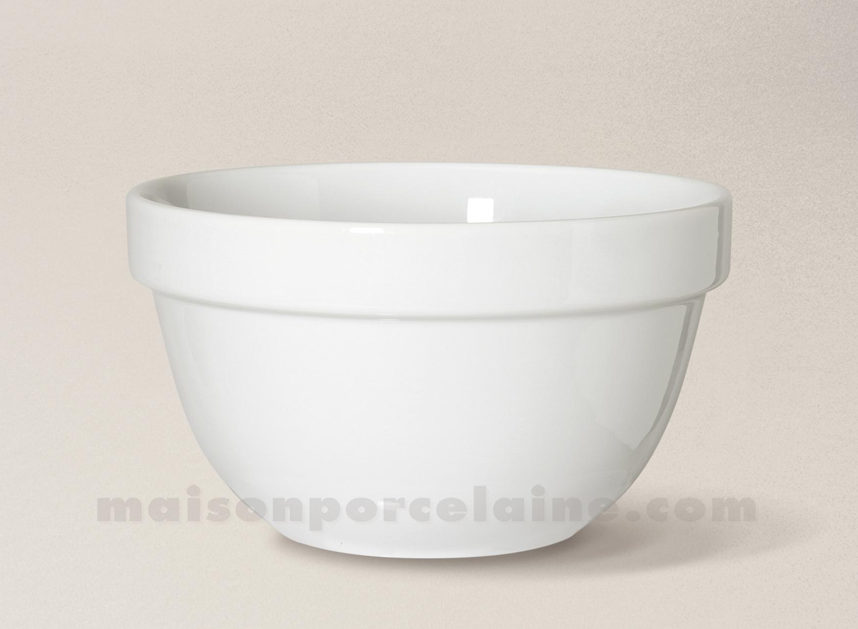 bol empilable porcelaine blanche 13x7 5 maison de la porcelaine. Black Bedroom Furniture Sets. Home Design Ideas