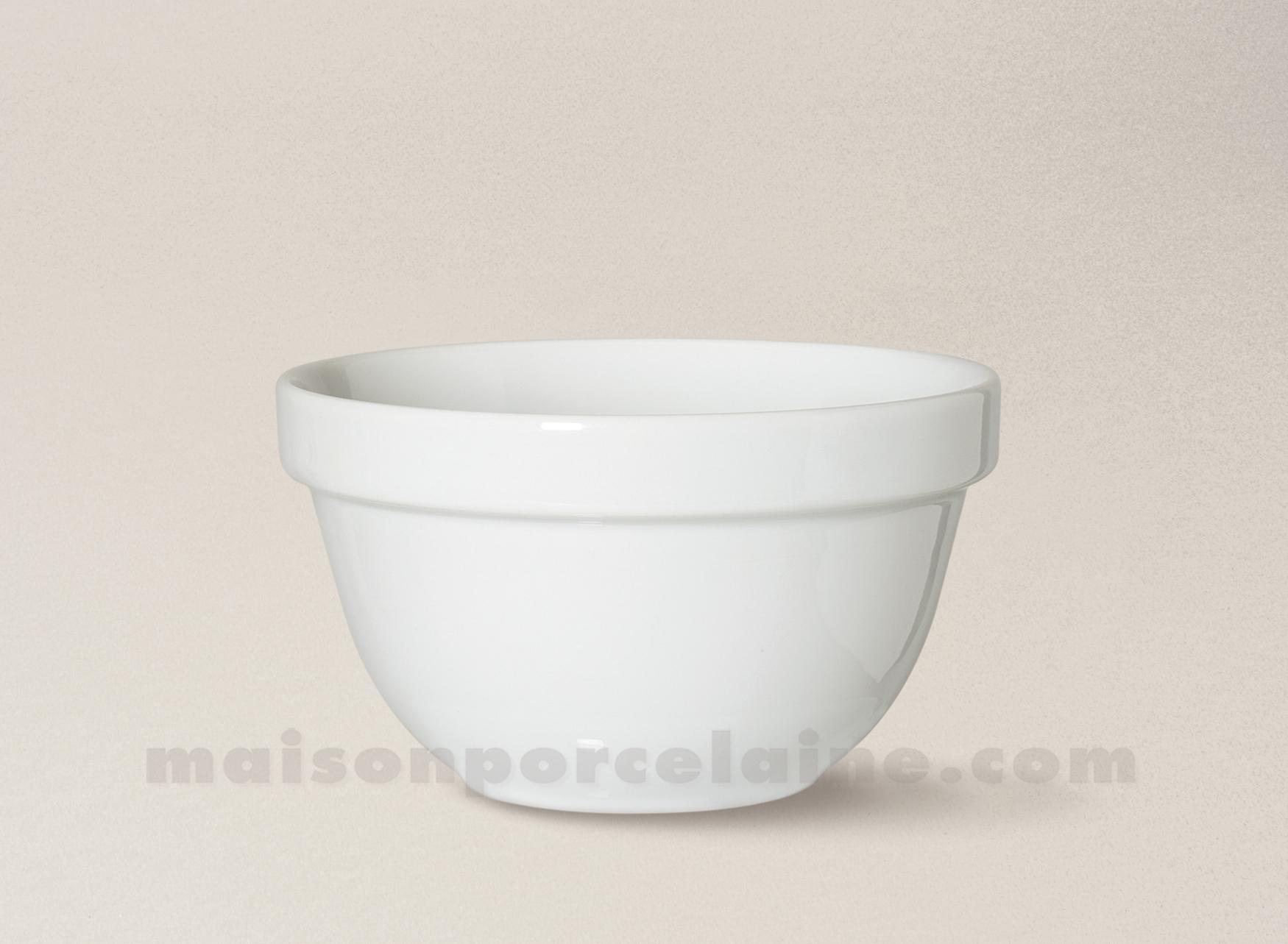 Bol empilable porcelaine blanche 8 5x5 maison de la for Maison de la porcelaine
