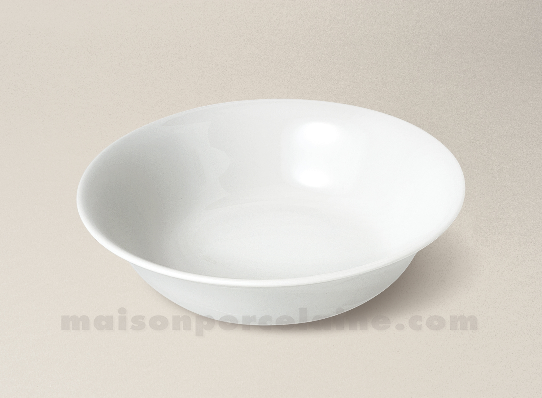 Bol salade cereales limoges porcelaine blanche empire d18 for Maison de la porcelaine