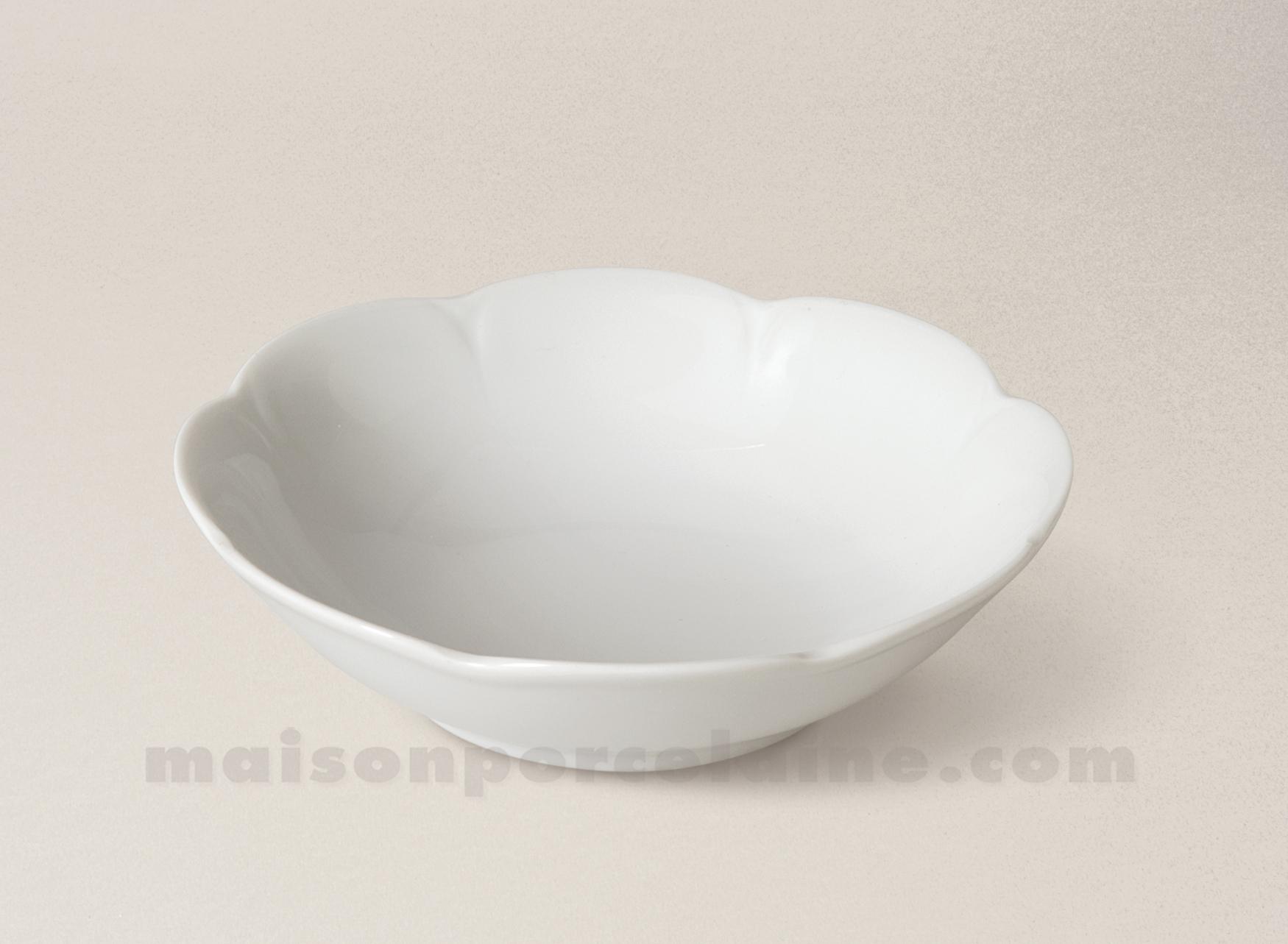 Bol salade cereales limoges porcelaine blanche nymphea d19 for Maison de la porcelaine