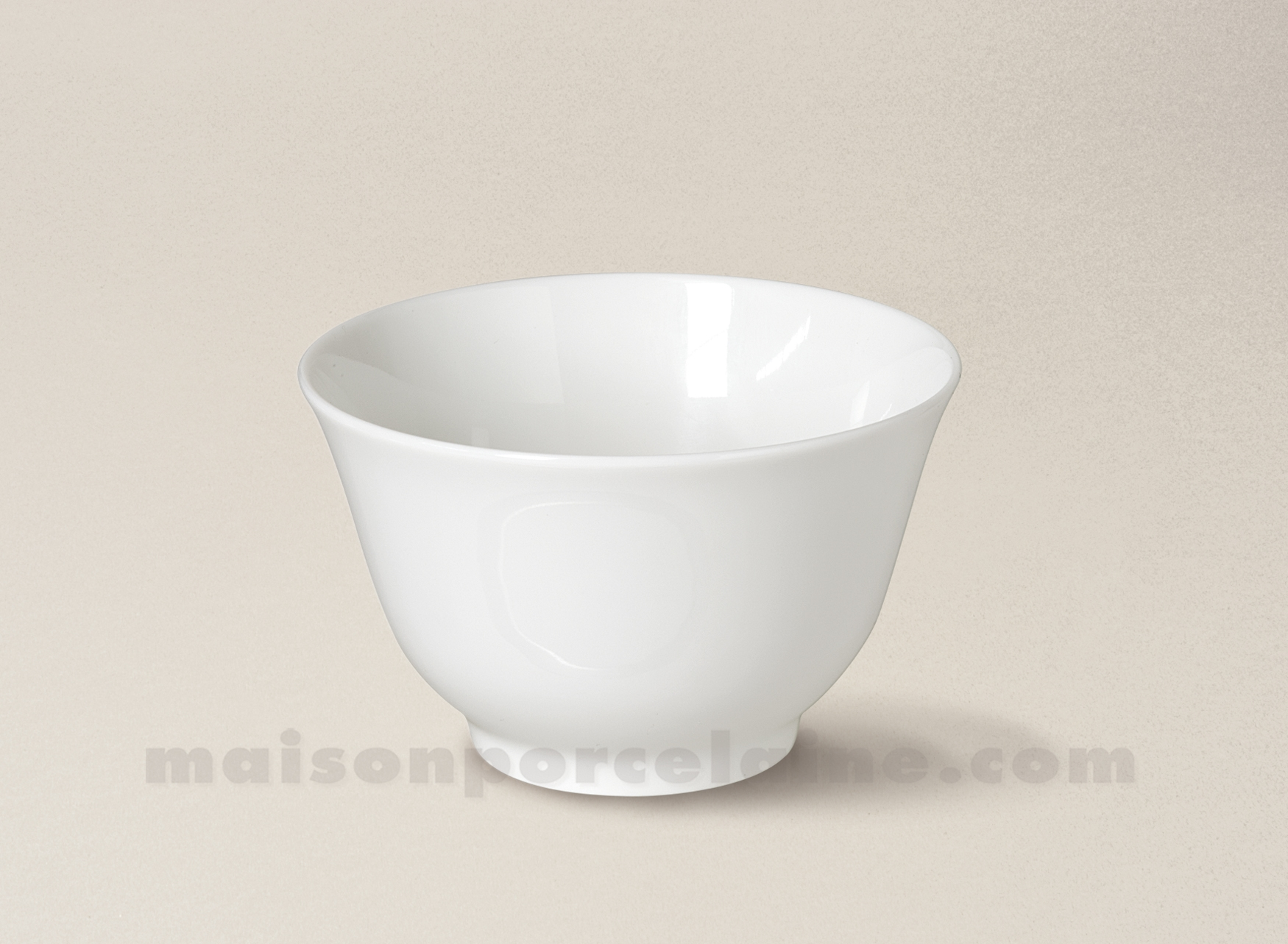 Bol the porcelaine blanche limoges evase orient gm 10x6 5 for Maison de la porcelaine