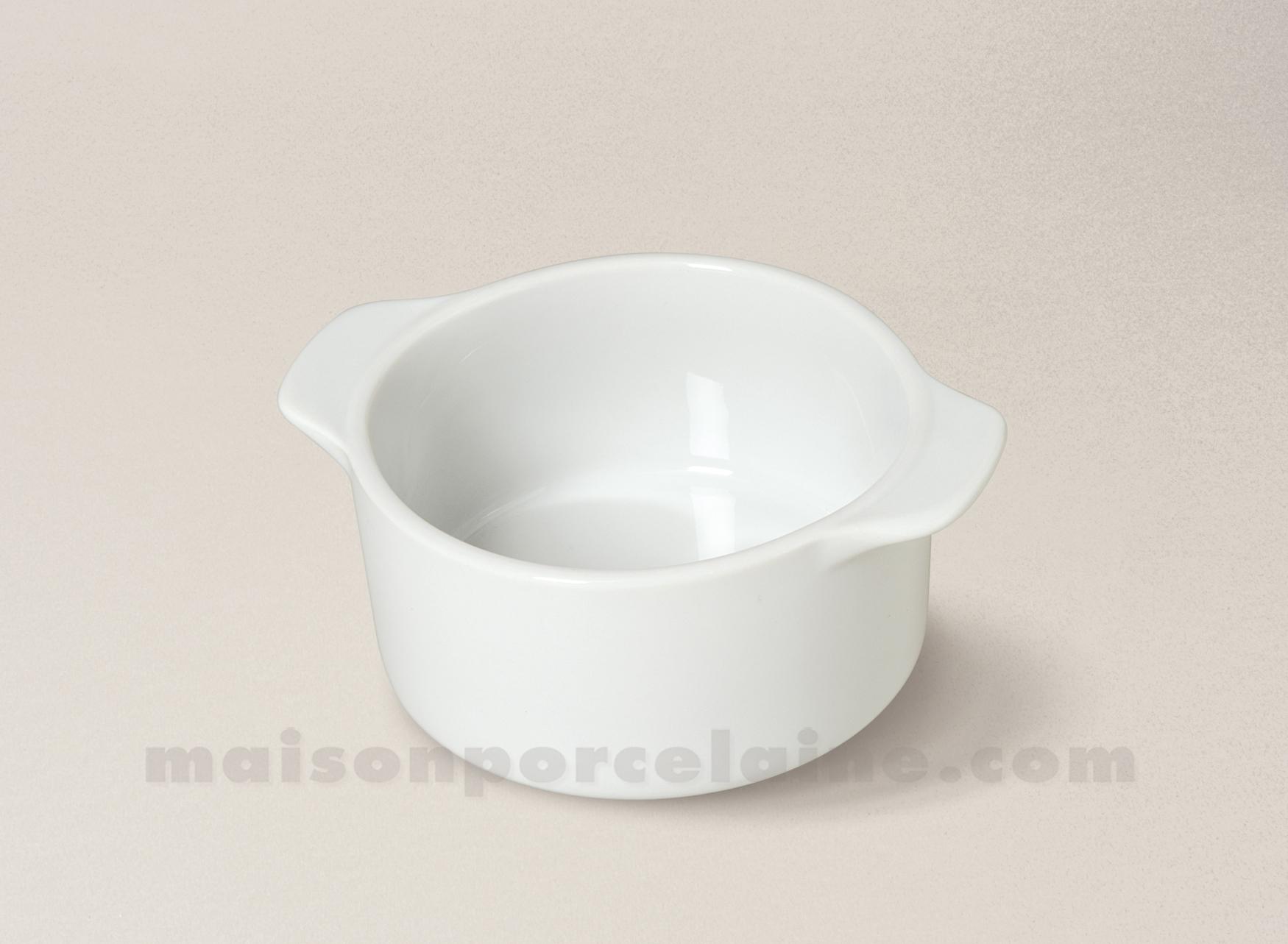 Caquelon porcelaine blanche culinaire pm 13x11x5 maison for Maison de la porcelaine
