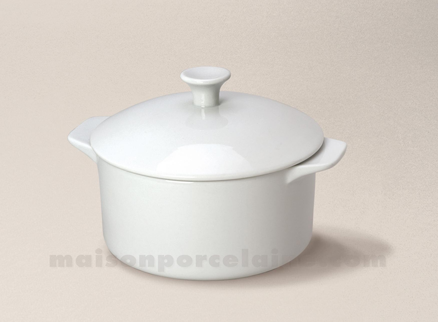 Cocotte couvercle porcelaine blanche a four mm 12x7 5 38cl maison de la por - Maison de porcelaine ...