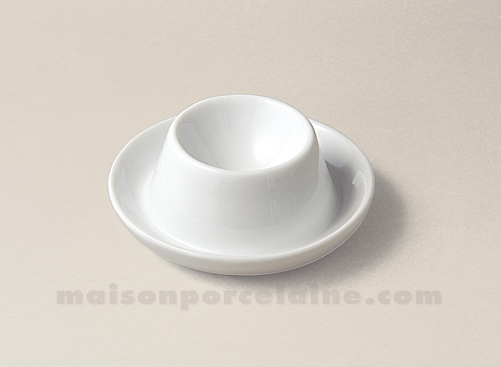 Coquetier porcelaine blanche chapeau 6x3 maison de la porcelaine - La porcelaine blanche ...